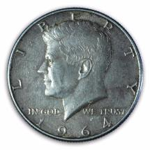 USA - Half Dollar - Kennedy - 1964 - Argent